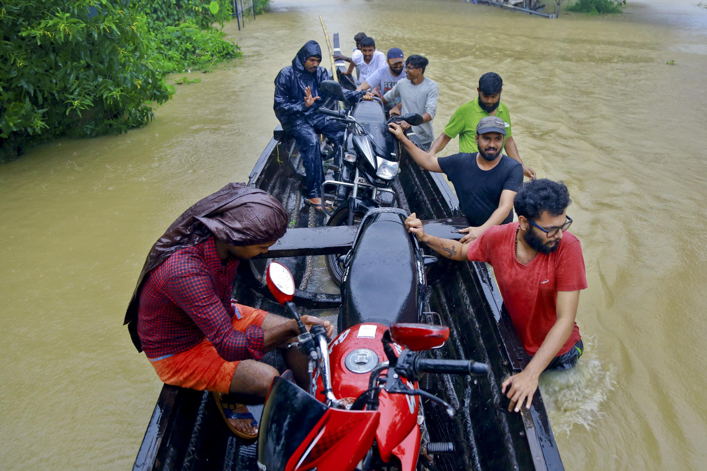 Rescuers in Alappuzha district, Kerala state