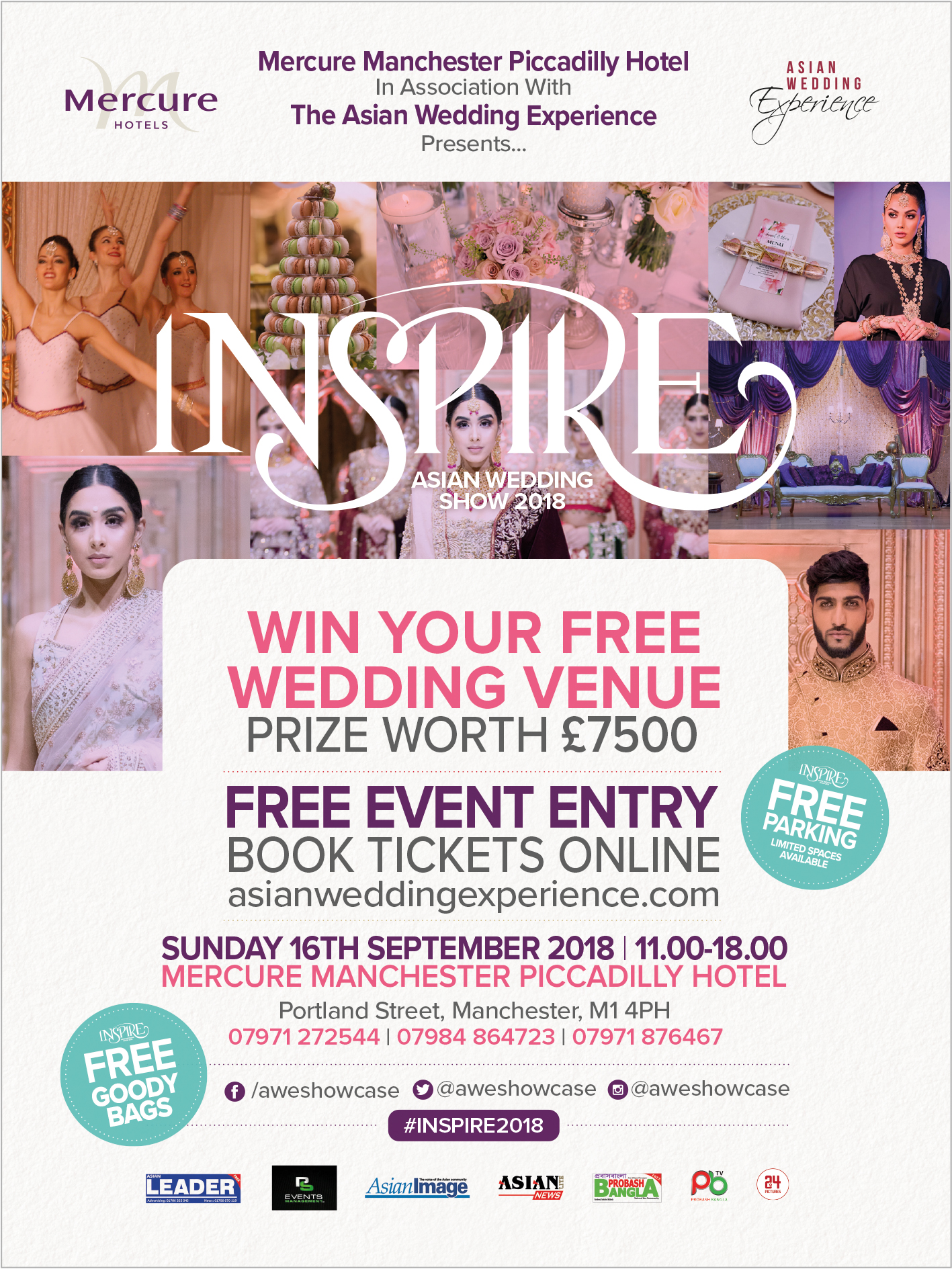 Free entry to 2018 Inspire Asian Wedding Show in Manchester
