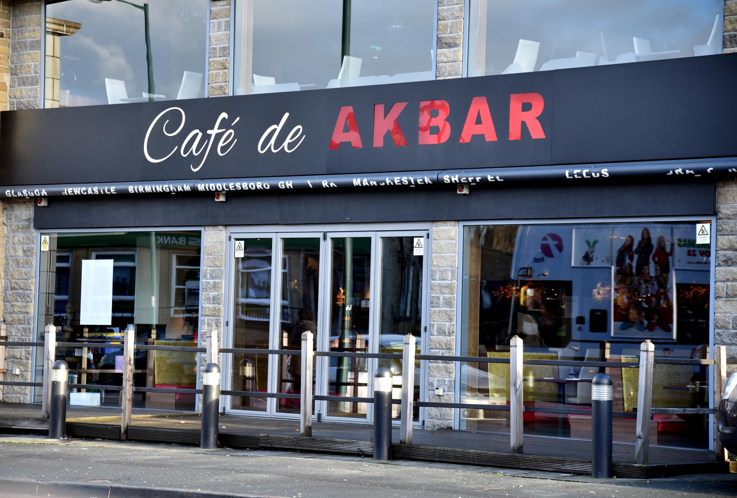 Amin said he went to a meeting at Café de Akbar in Leeds Road, Bradford, and said his presence would be a 'comfort' to Yassar.