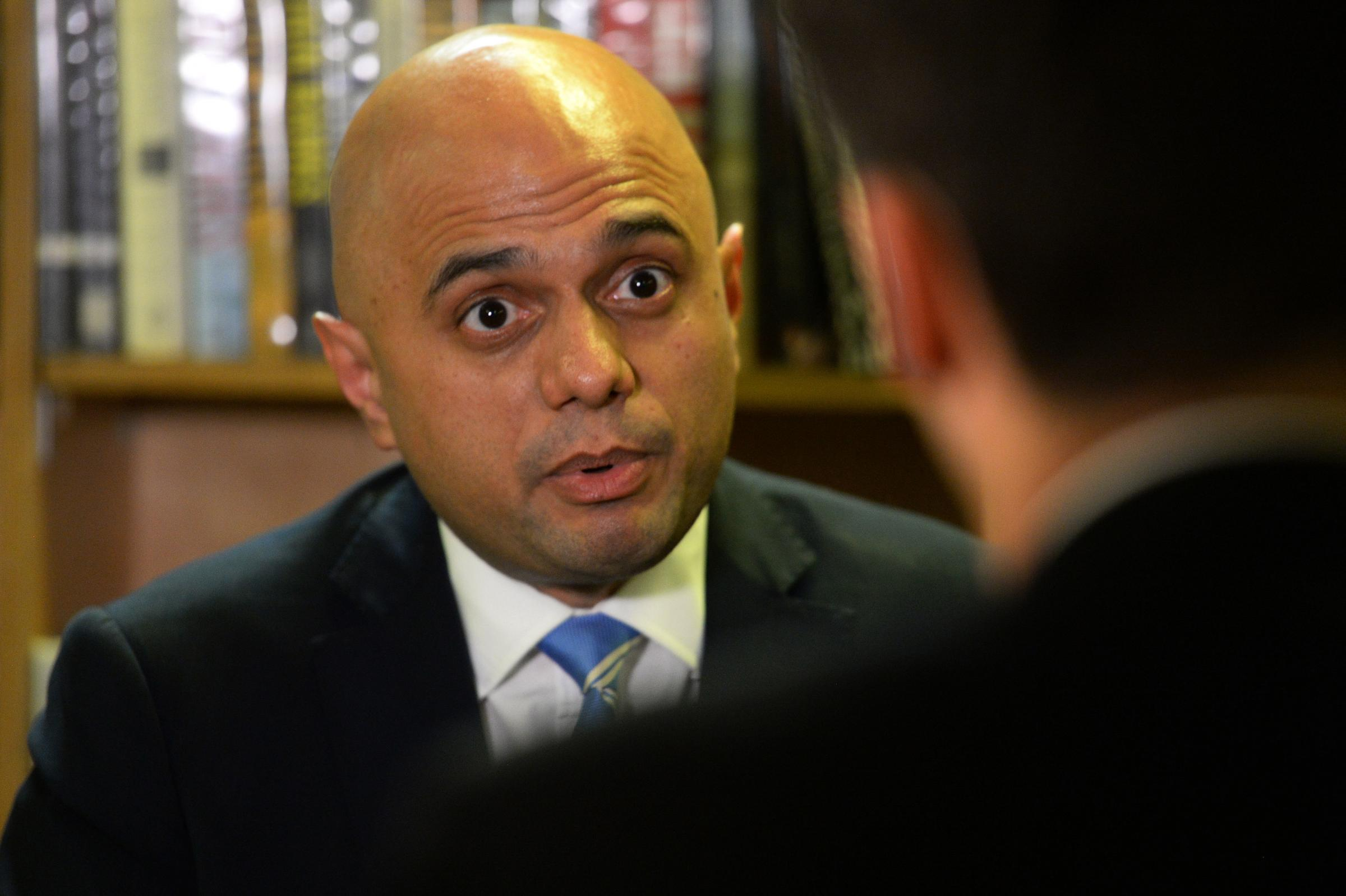 Home Secretary Sajid Javid during a round table discussion on the Prevent anti-terror scheme, at the Chrisp Street Ideas Store in Poplar, London.