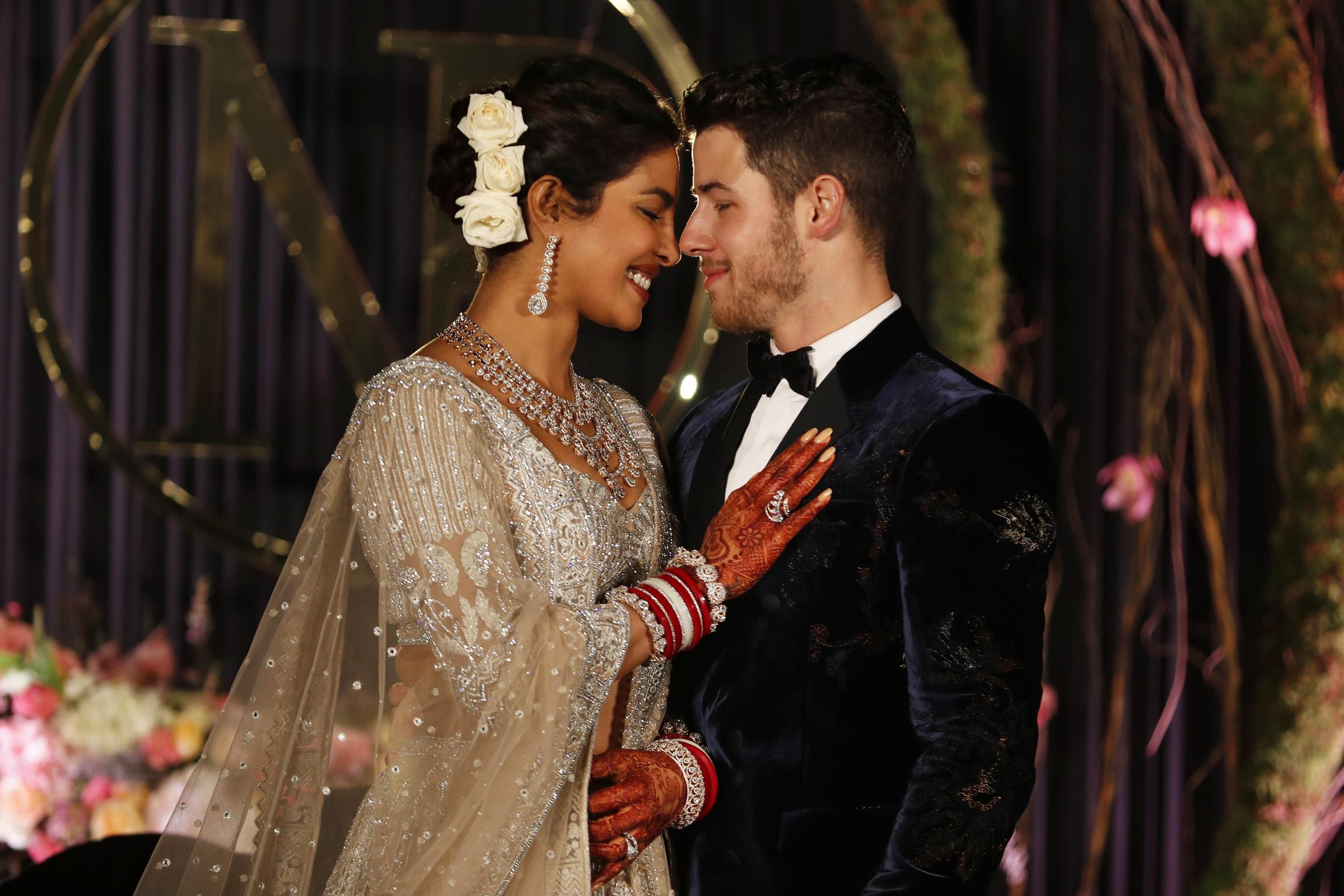Priyanka Chopra, left, and Nick Jonas