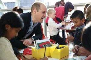 The Duke of Cambridge during a visit to Evelina Children's Hospital in London. The Duke and Duchess met a number of children receiving care at the hospital, and heard from staff and parents about Evelina London's life changing care and support for families.  (PA)