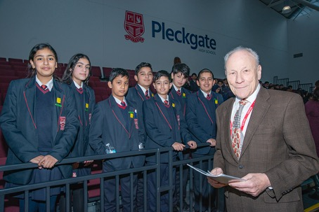 School pupils hear testimony from Holocaust survivor