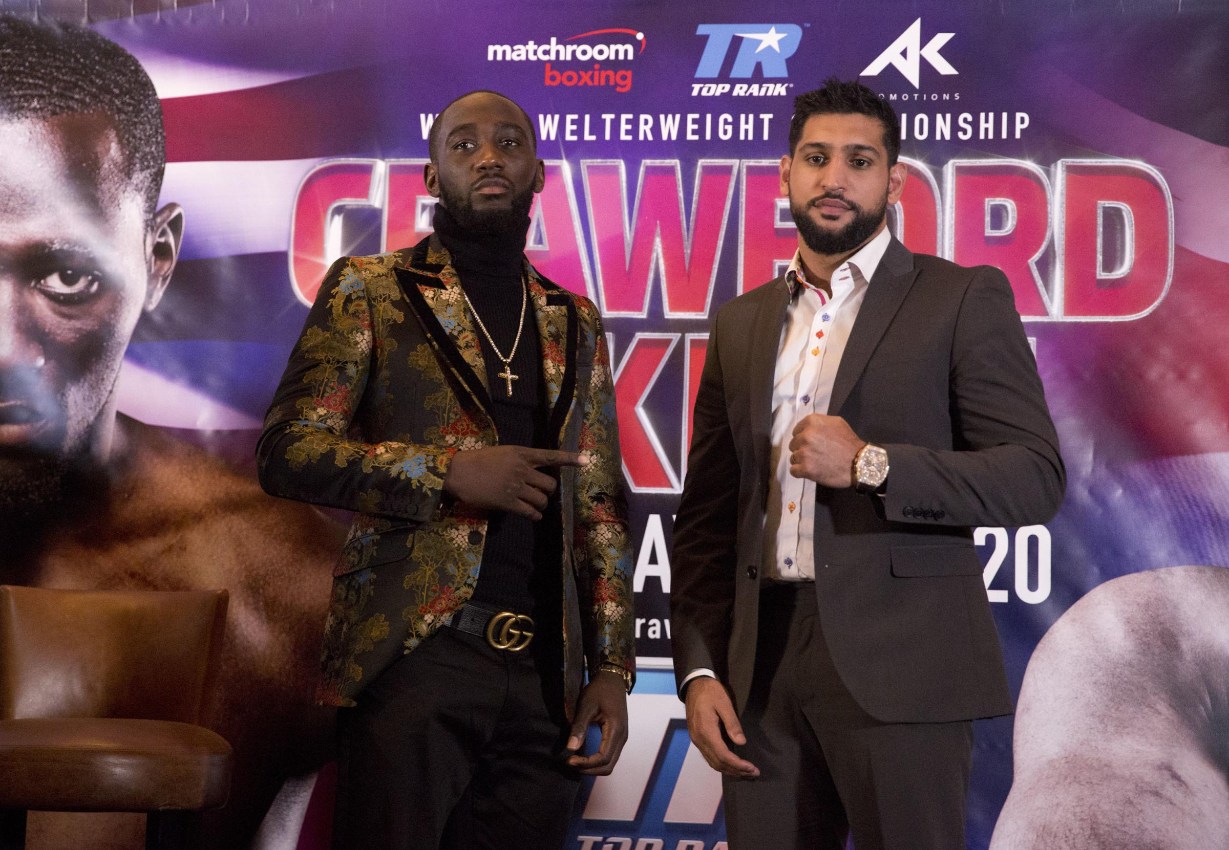 SHOWDOWN: Amir Khan, right and Terence Crawford will fight in April