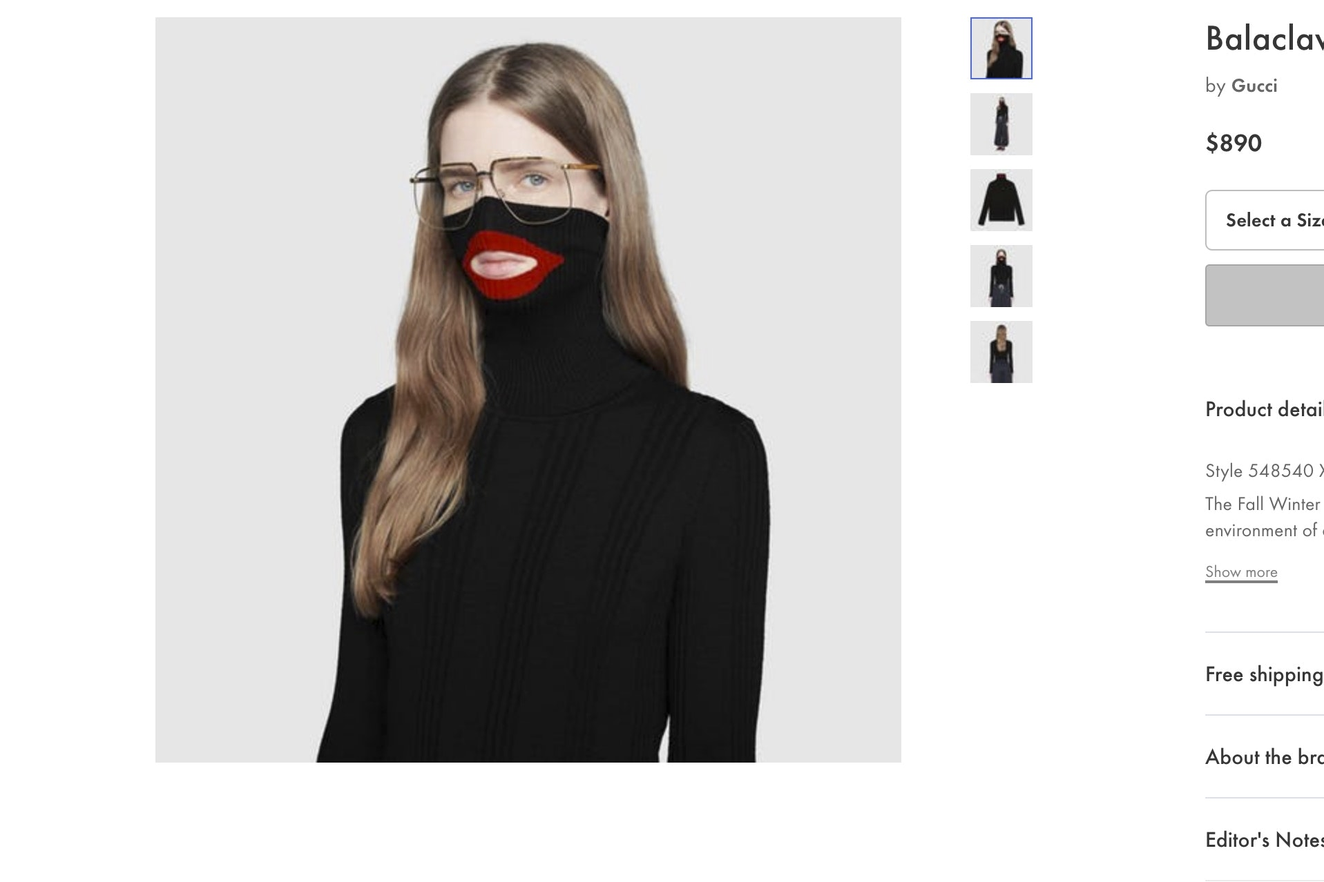 Gucci removes 'blackface' sweater from stores after complaints