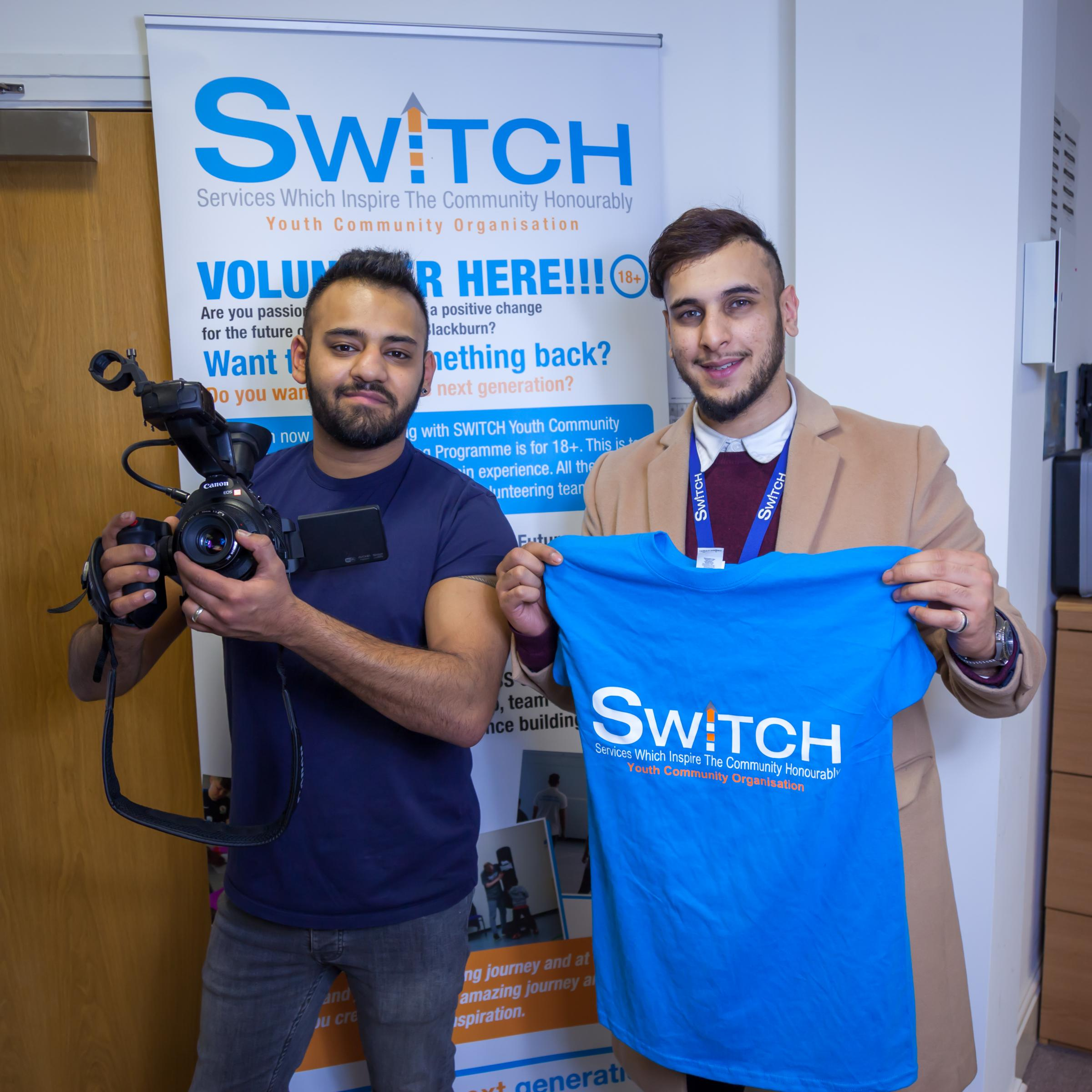 Film maker, Aeman supporting youth organisation SWITCH