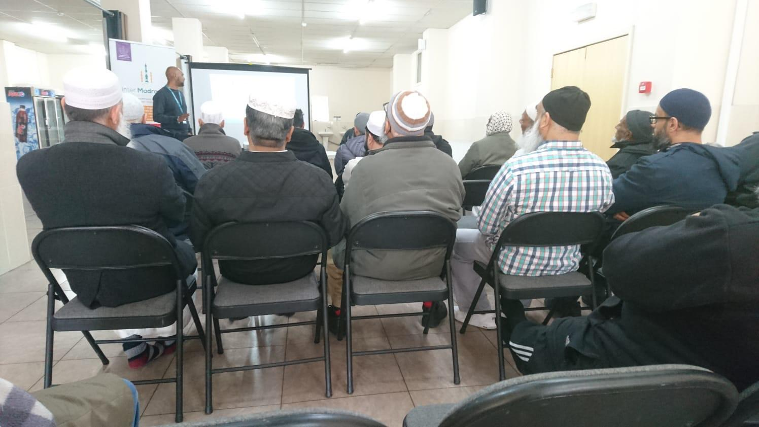 The first session took place on at the Masjid-E-Sajideen, Little Harwood, Blackburn.