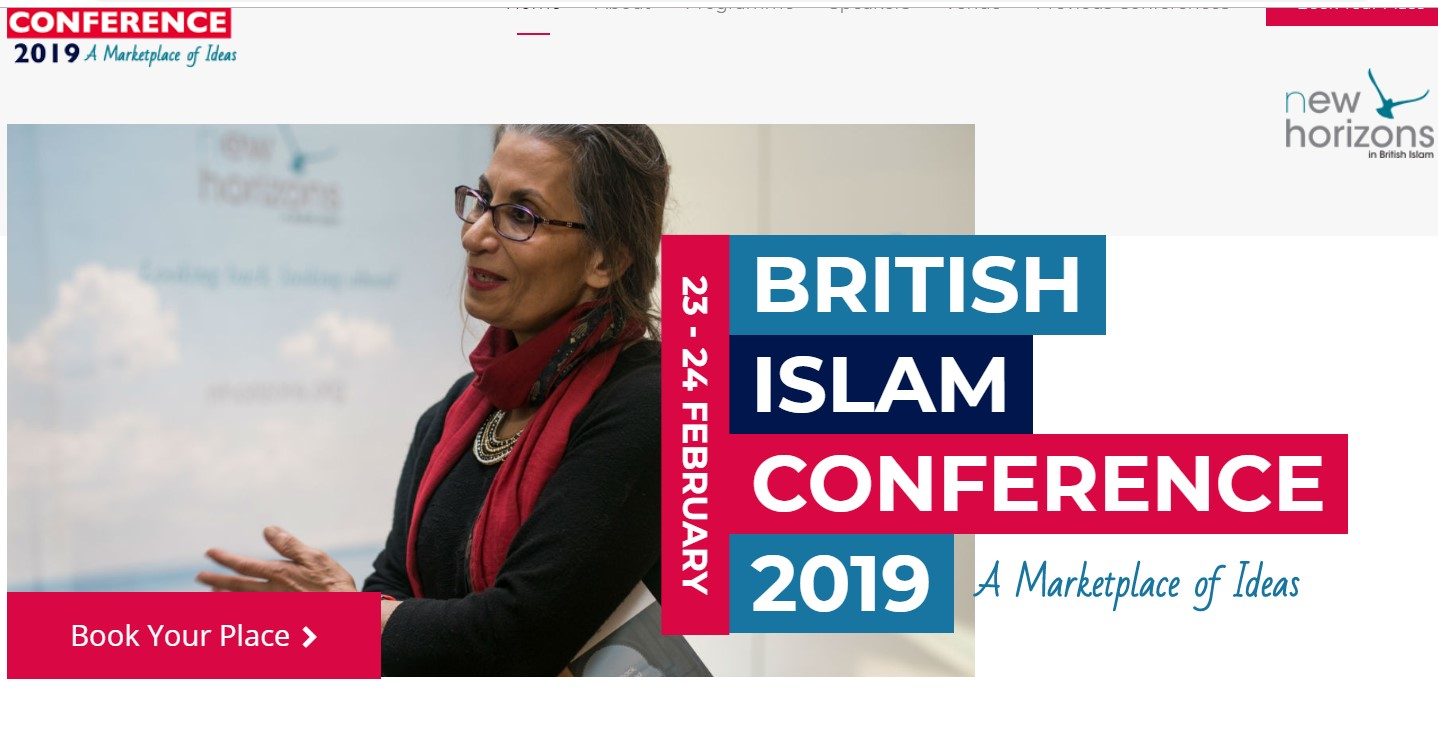 Who will be speaking at the British Islam Conference 2019?
