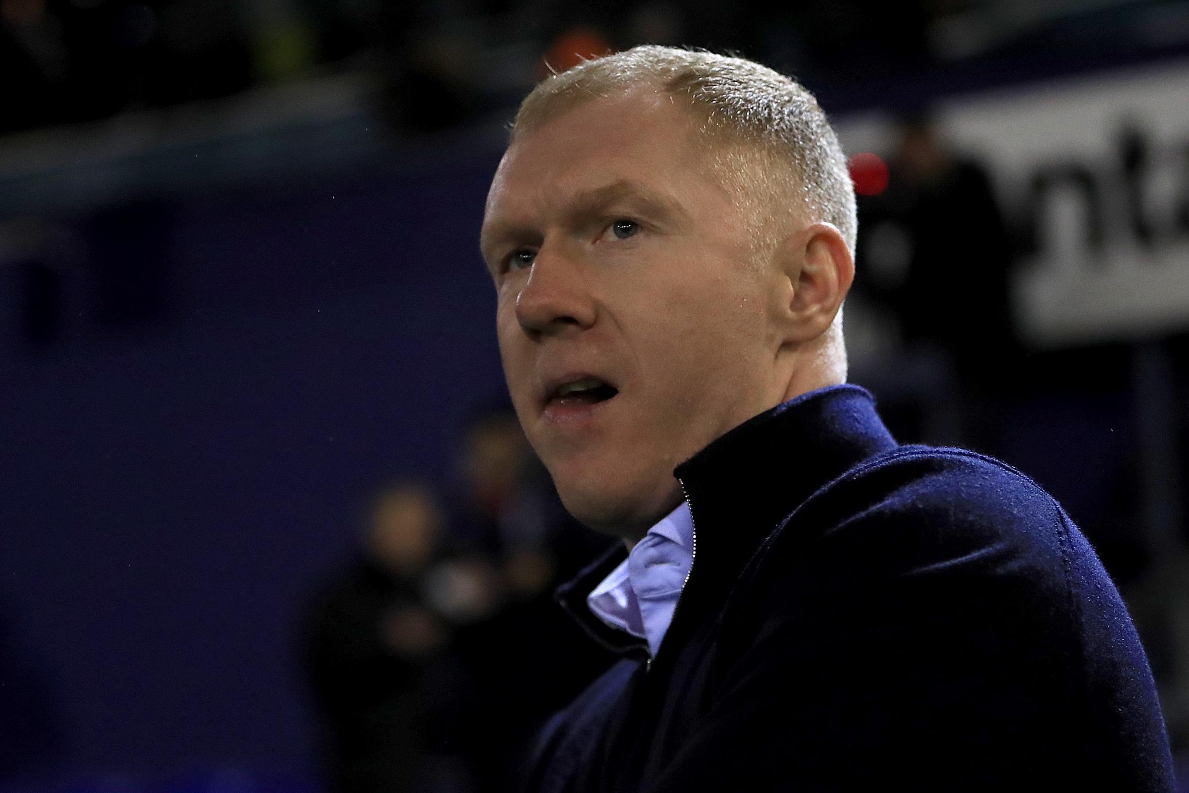 Paul Scholes has stepped down as manager of Oldham