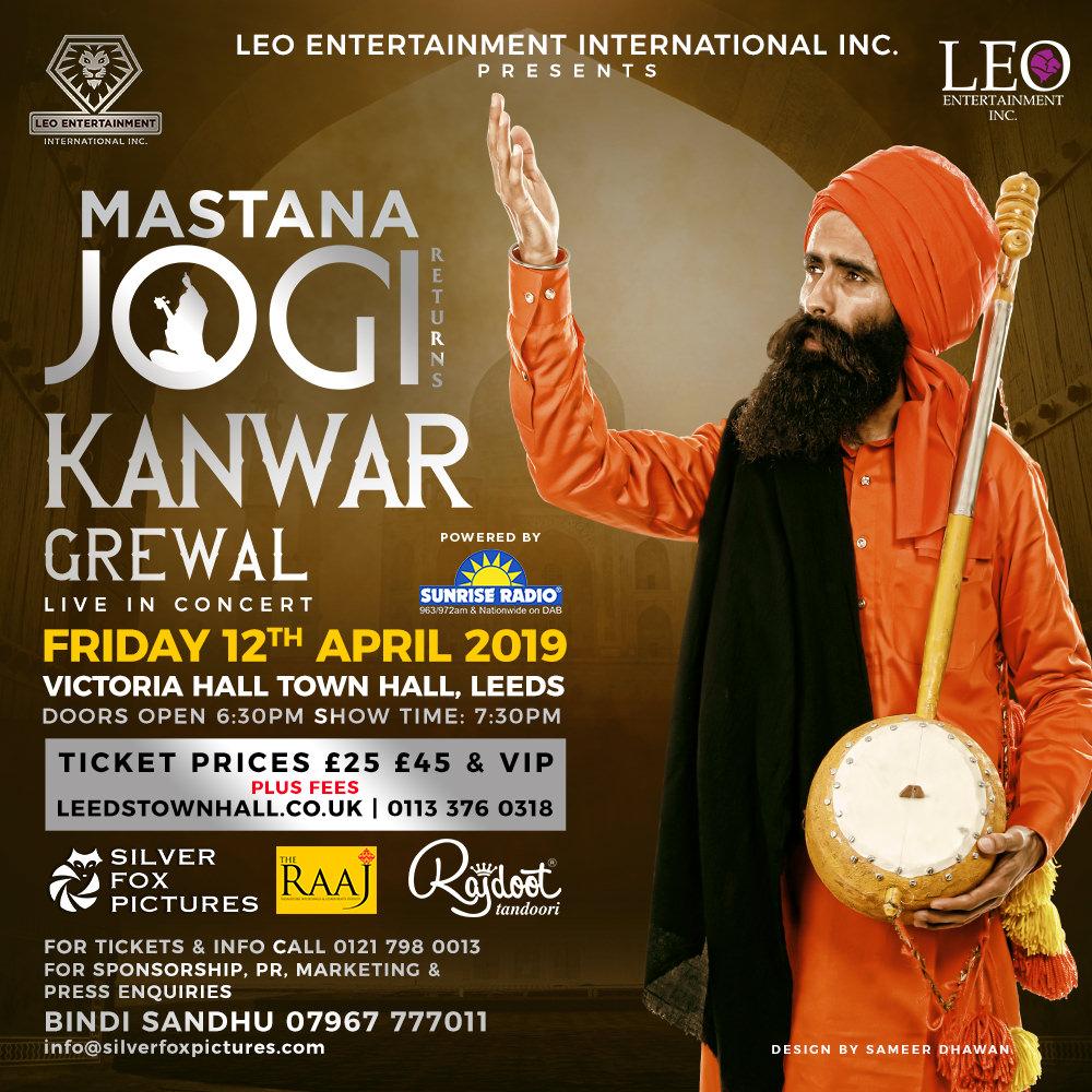 Mastana Jogi' Tour: Kanwar Grewal in Glasgow, Leeds