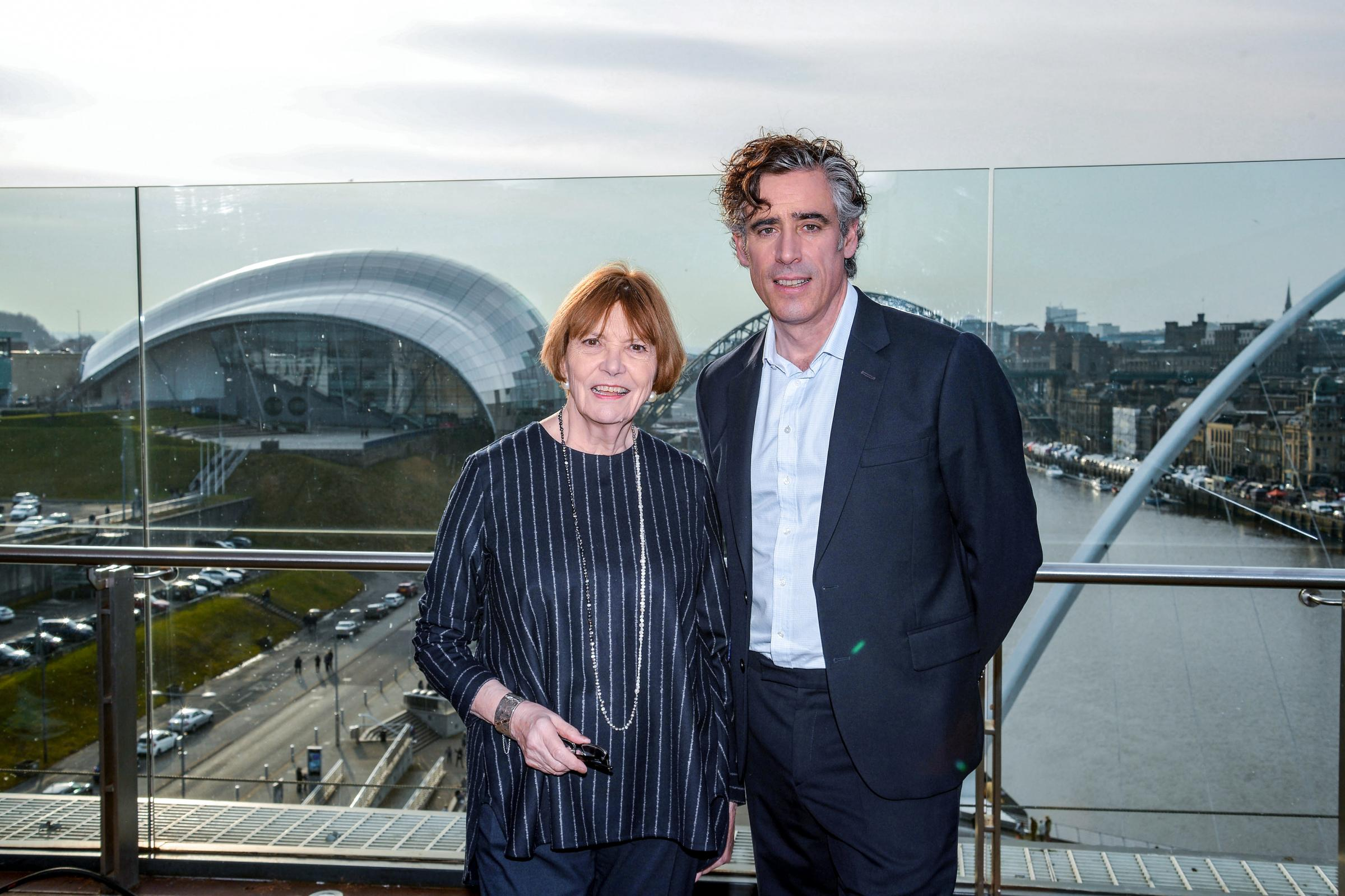 Joan Bakewell and Stephen Mangan