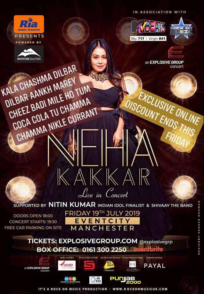 Here's how you can see Indian singing sensation Neha Kakkar live in Manchester