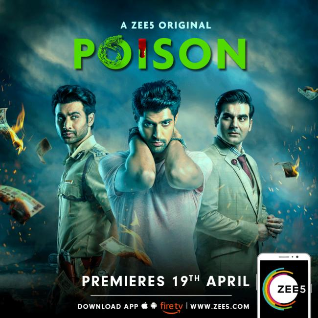 Arbaaz Khan and Riya Sen in new ten episode series 'Poison' on ZEE5