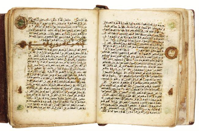 A fine and rare miniature Quran on vellum, North Africa, Near East or Persia, 10th Century AD (est. £70,000-90,000)