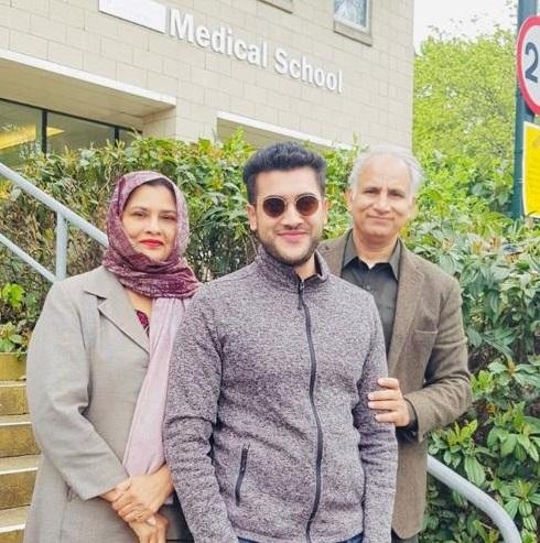 Hafeez Buttar and wife Yasmin with Hamid who has qualified as a doctor