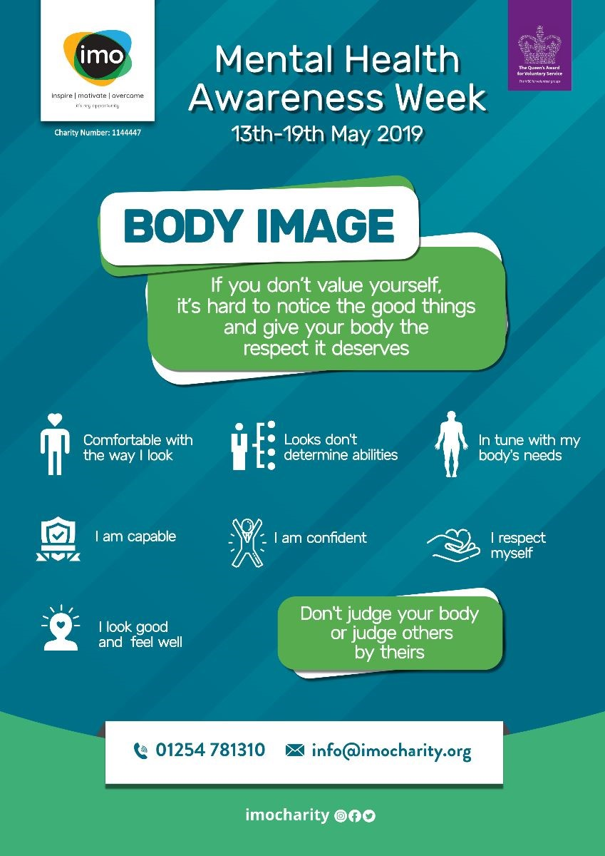 'Use this poster of encouraging tips to help maintain a positive attitude towards Body Image'