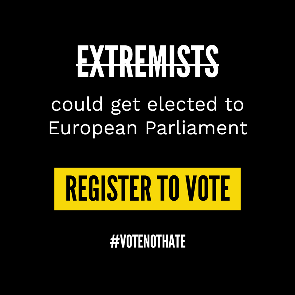 Young people urged to vote on May 23 to keep extremists out