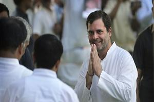 Congress Party President Rahul Gandhi, greets people during a function to pay homage to their father and former Indian prime minister Rajiv Gandhi on his death anniversary in New Delhi, India, Tuesday, May 21, 2019. (AP/Manish Swarup).