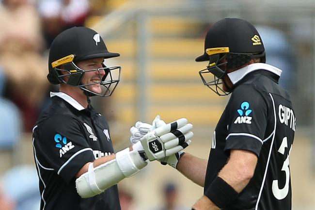 Colin Munro, left, and Martin Guptill finished unbeaten to give New Zealand a 10-wicket win over Sri Lanka