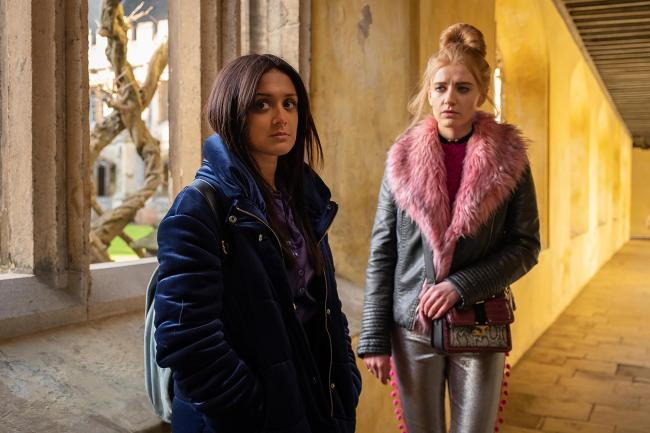 Nas (Amy-Leigh Hickman) and Missy (Poppy Lee Friar) (Picture Channel 4)